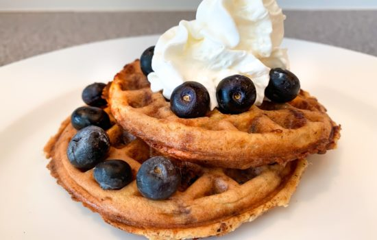 Keto Blueberry Chaffles