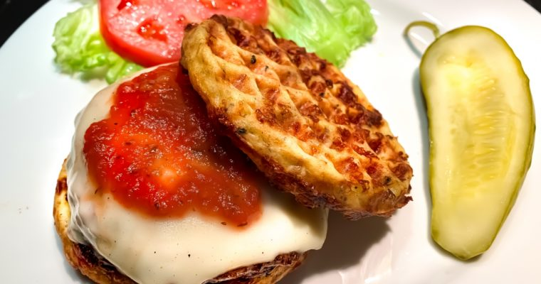 Keto Pizza Burger Chaffle