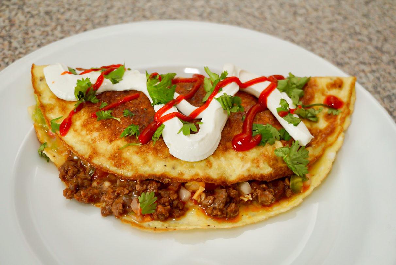 Keto Taco Omelette