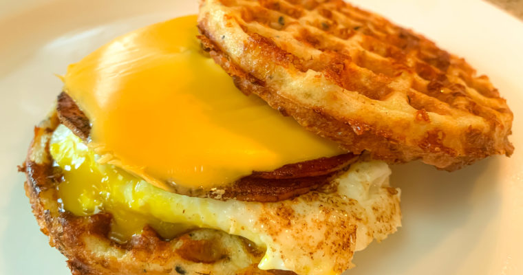 'Jersey Shore' Keto Pork Roll Egg & Cheese Chaffle
