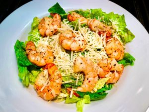 keto shrimp caesar salad