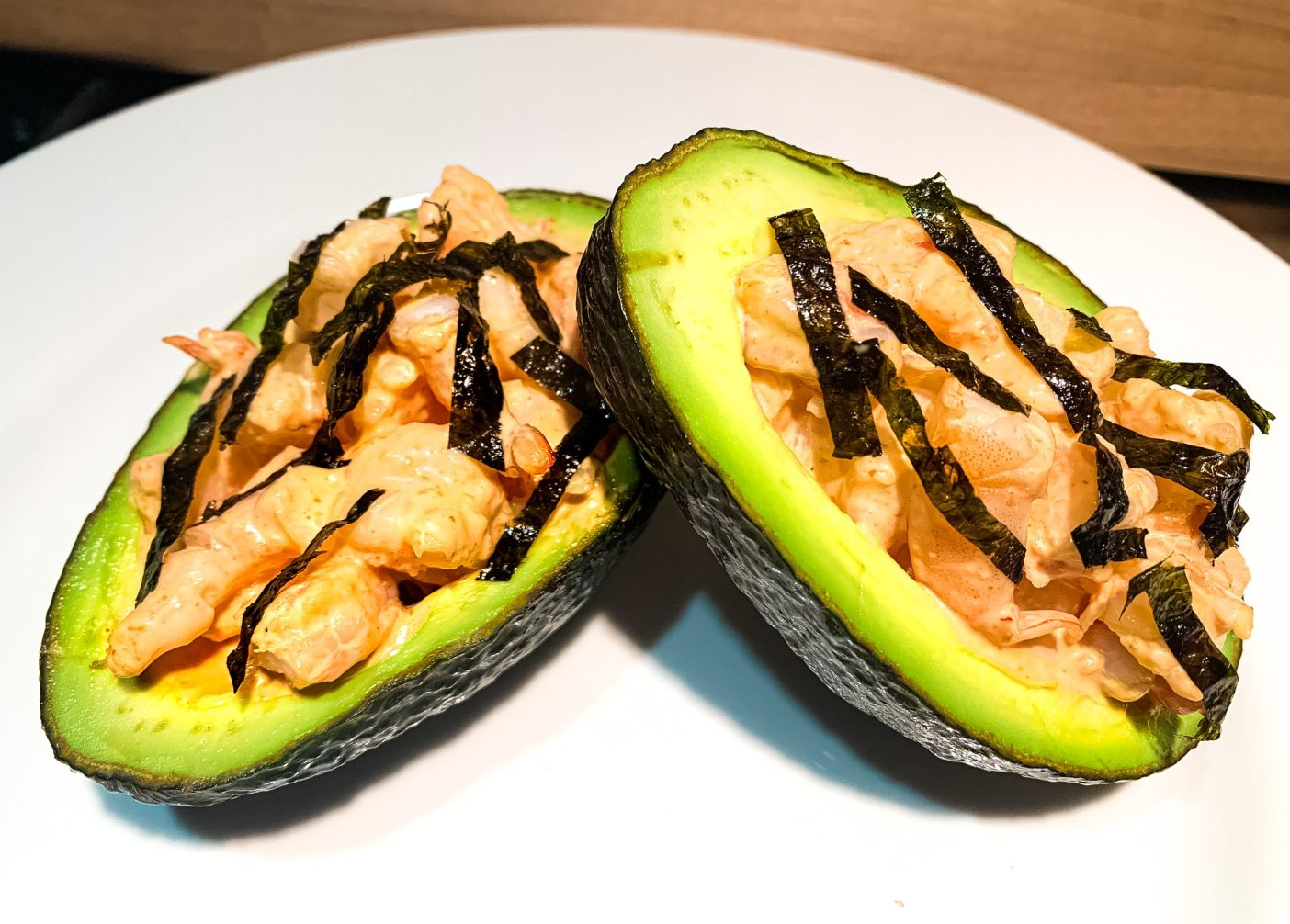 Keto Spicy Shrimp Avocado Salad
