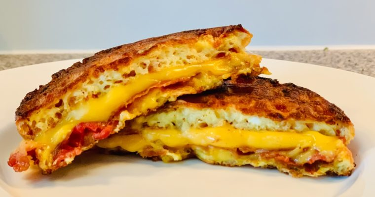 Keto Grilled Cheese Chaffle